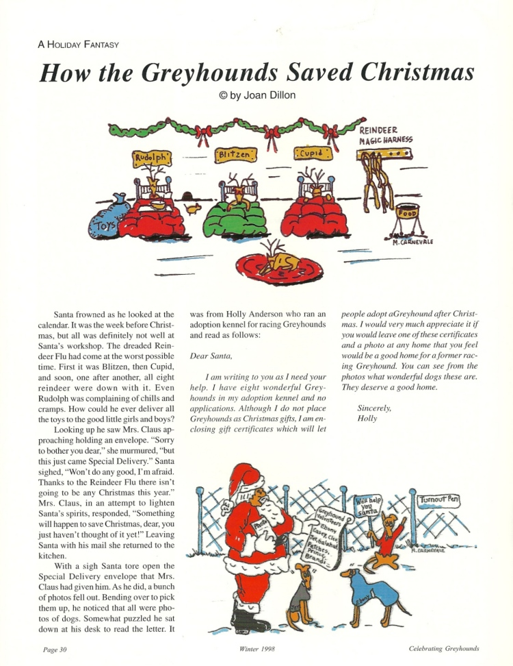 Dillon How the greyhounds saved christmas 1