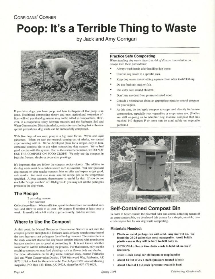 Corrigan poop 1