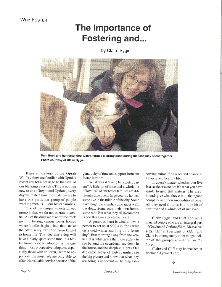 Sygiel Importance of fostering and ...