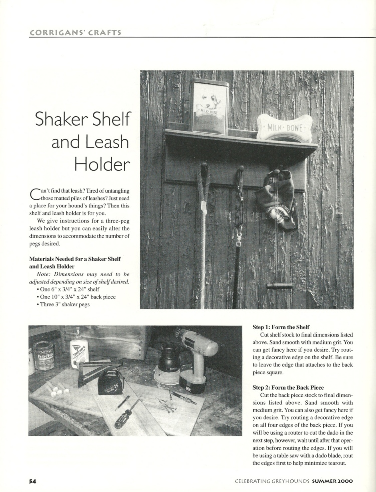 Corrigan shaker shelf and leash 1